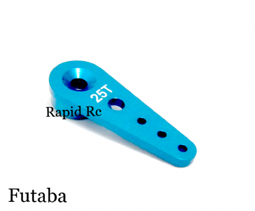 Futaba Standard 25T Aluminum Single Side Arm - Blue